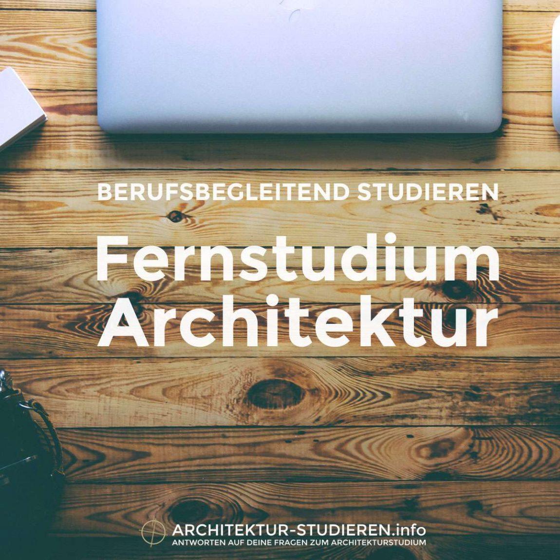 Berufsbegleitend studieren | Fernstudium Architektur | © Architektur-studieren.info