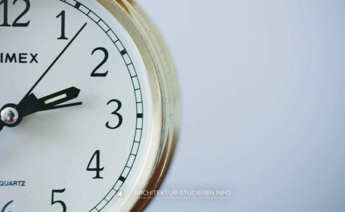 Wie lange dauert das Architekturstudium?   © Anett Ring, Architektur-studieren.info