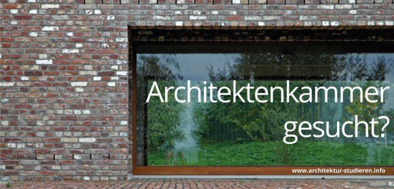 Architektenkammer gesucht? | © Architektur-studieren.info