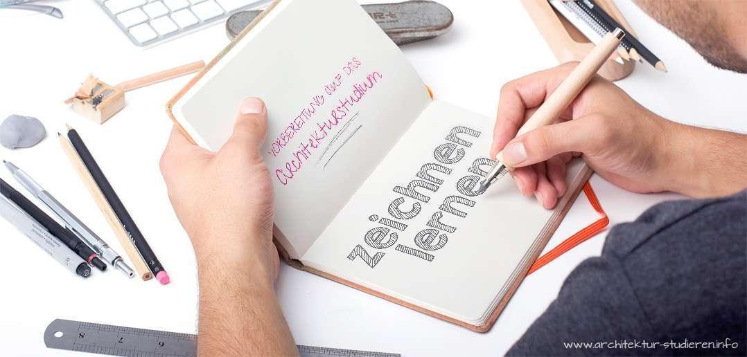 Vorbereitung auf das Architekturstudium: Zeichen lernen | © architektur-studieren.info