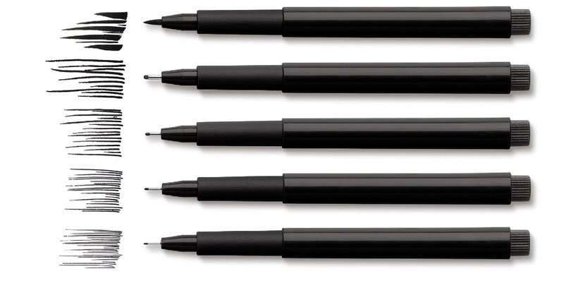 Tuschestifte für das Architekturstudium