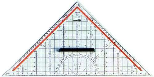 Zeichendreieck für Geometrie