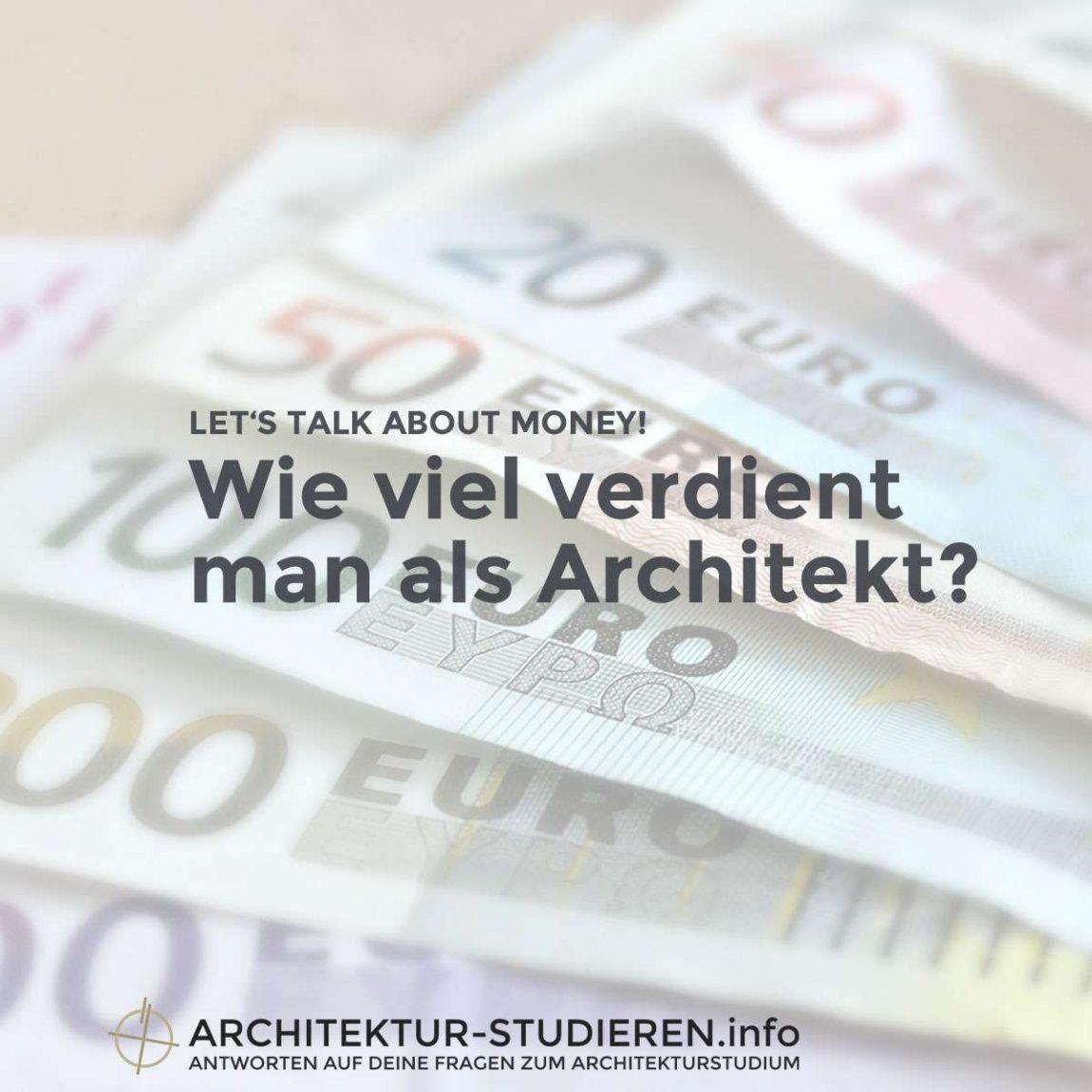 Wie viel verdient man als Architekt / Architektin? | © Architektur-studieren.info