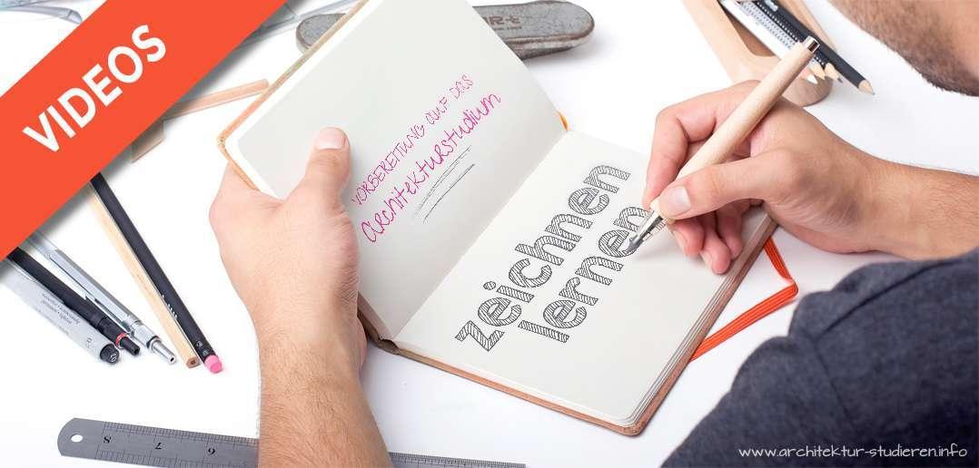 Vorbereitung auf das Architekturstudium: Zeichen lernen VIDEOS | © architektur-studieren.info