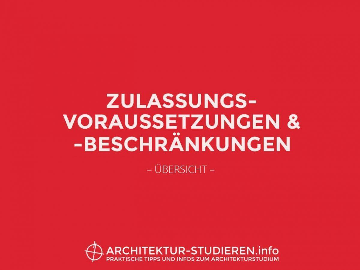 zulassungsvoraussetzungen architekturstudium bersicht - Fh Munchen Bewerbung
