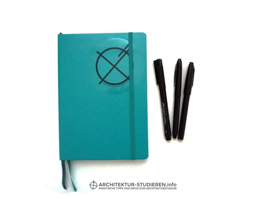 Skizzenbuch Architekturstudium | © Anett Ring, Architektur-studieren.info