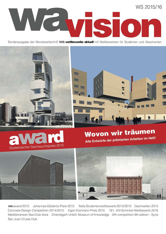 Cover der wa vision 2015/2016 | © wettbewerbe aktuell