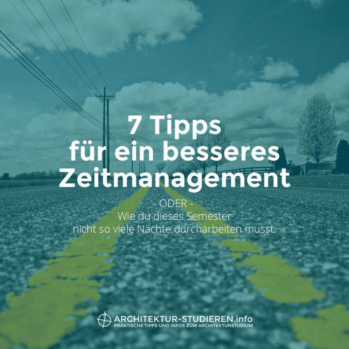 7 Tipps für besseres Zeitmanagement im Architekturstudium | © Anett Ring, Architektur-studieren.info