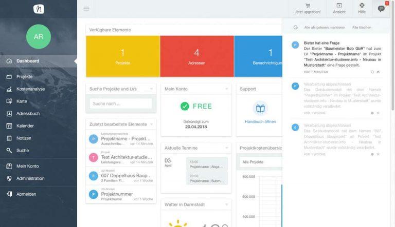 AVA-Software: Test NOVA AVA | Architektur-studieren.info