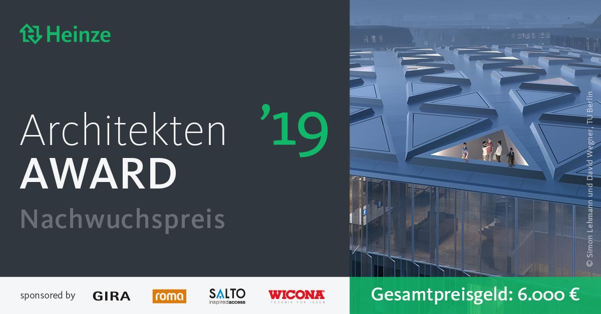 Heinze architektenaward 2019 sonderpreis f r studierende for Architektur studieren info