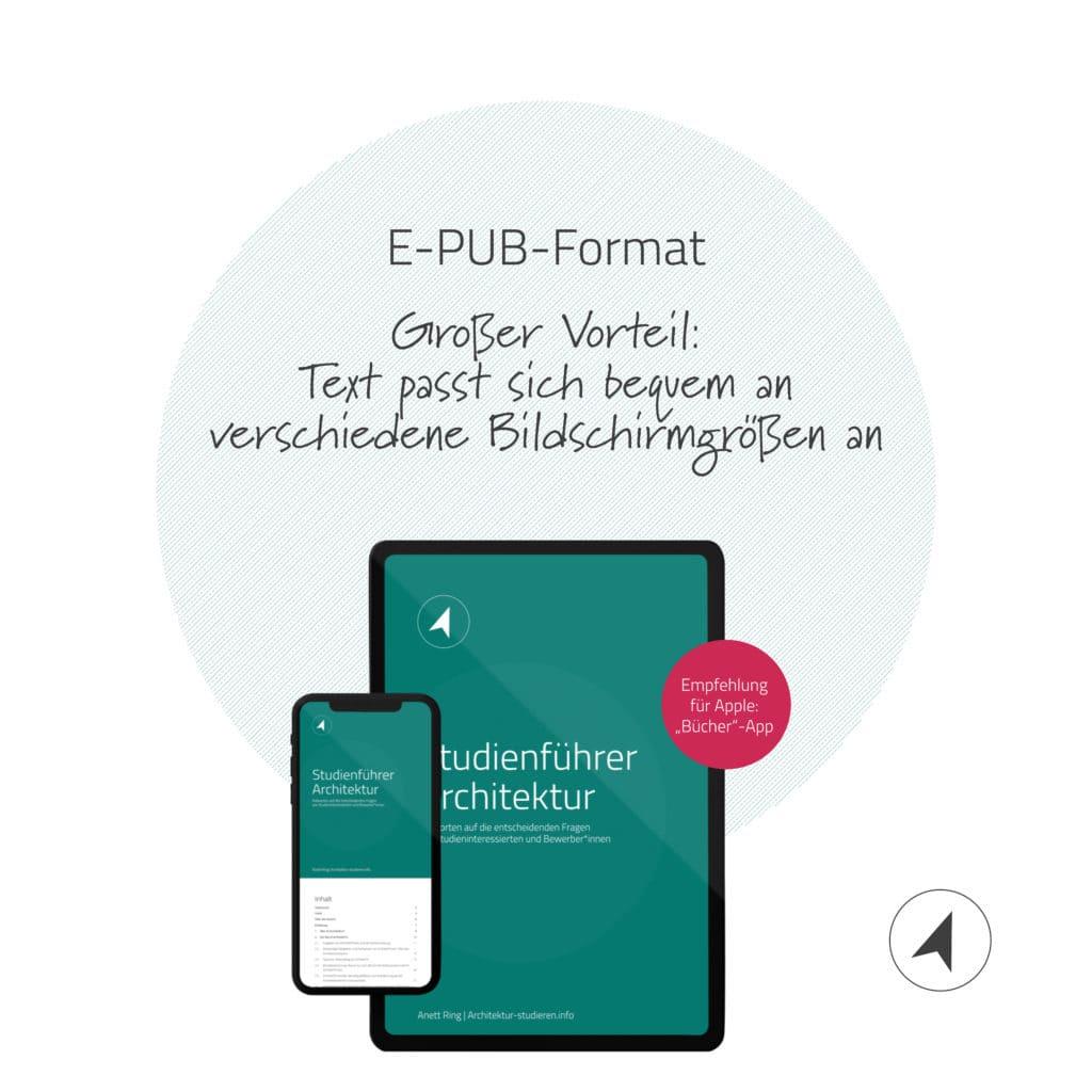 Studienführer Architektur E-Book im EPUB3-Format | © Anett Ring, Architektur-studieren.info