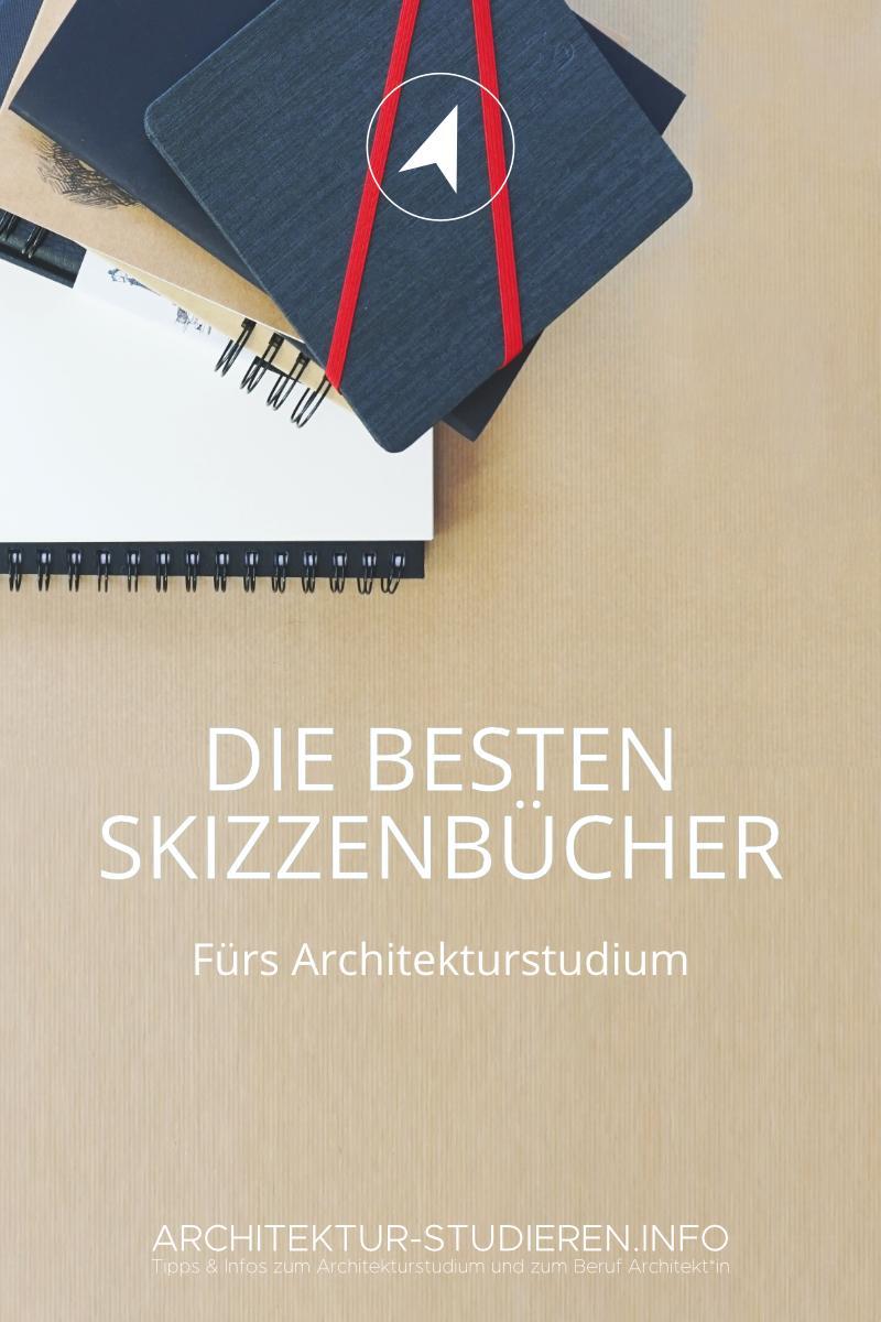 Die besten Skizzenbücher fürs Architekturstudium | © Anett Ring, Architektur-studieren.info