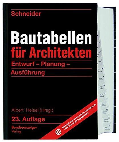 Bautabellen für Architekt*innen | © Bundesanzeiger Verlag, vorgestellt auf Architektur-studieren.de