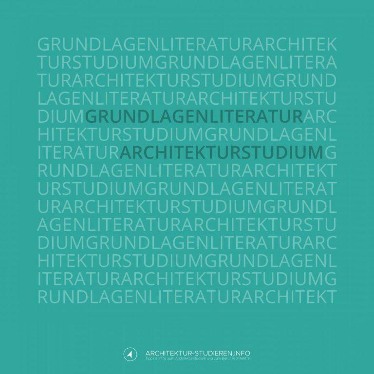 Buchempfehlungen Architekturstudium: Grundlagen [Literaturliste] | © Anett Ring, Architektur-studieren.info