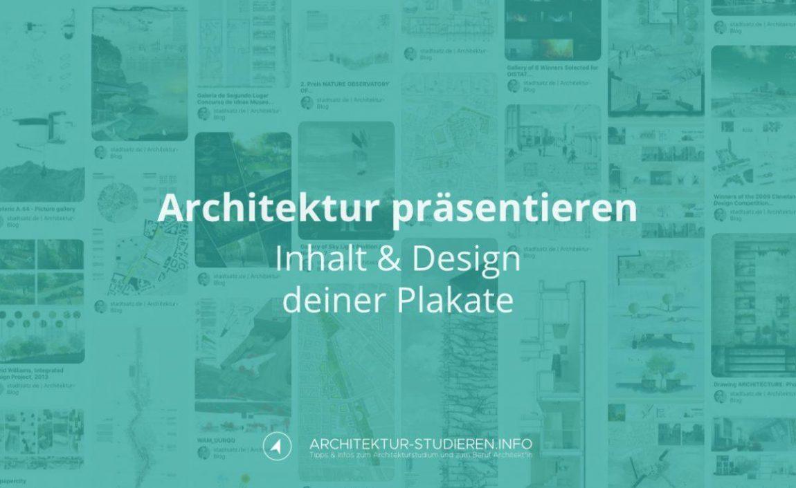 Architektur präsentieren: Inhalt & Design deiner Architekturplakate | © Anett Ring, Architektur-studieren.info