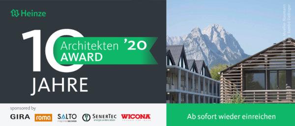 Nachwuchspreis Heinze ArchitektenAWARD 2020 (17.06.20)