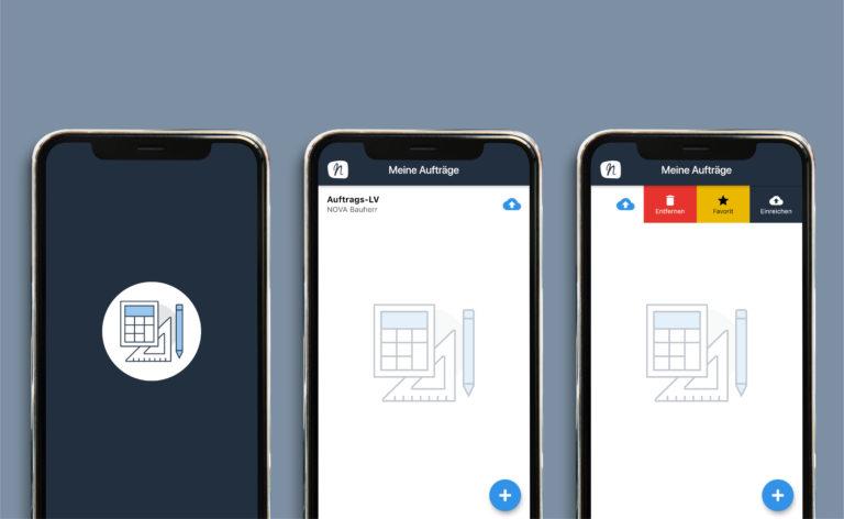 NOVA Aufmaß App: Übersichtliches und funktionales Design | © Anett Ring, Architektur-studieren.info