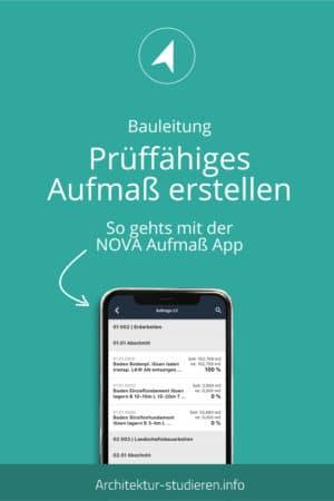 Ganz einfach: Prüffähiges Aufmaß erstellen mit der NOVA Aufmaß App | © Anett Ring, Architektur-studieren.info