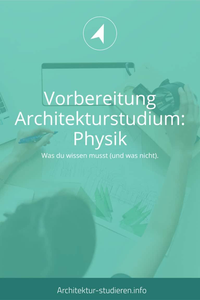 Physik Architekturstudium | © Architektur-studieren.info