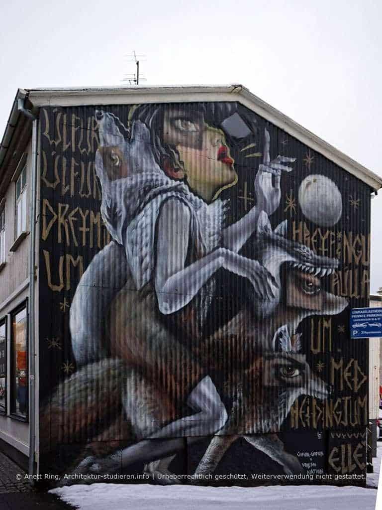 Street-Art in Reykjavík von ELLE | © Anett Ring, Architektur-studieren.info und Stadtsatz.de [Urheberrechtlich geschütztes Werk. Weiterverwendung nicht gestattet.]