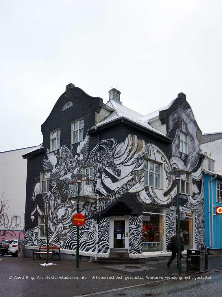 Street-Art in Reykjavík von Caratoes | © Anett Ring, Architektur-studieren.info und Stadtsatz.de [Urheberrechtlich geschütztes Werk. Weiterverwendung nicht gestattet.]