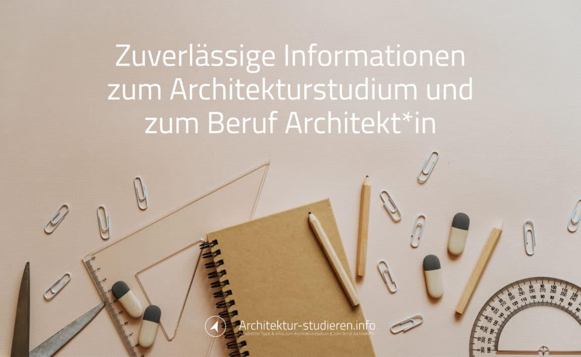 Architektur studieren 2021/2022 | Zuverlässige Informationen zum Architekturstudium und zum Beruf Architekt*in | © Anett Ring, Architektur-studieren.info