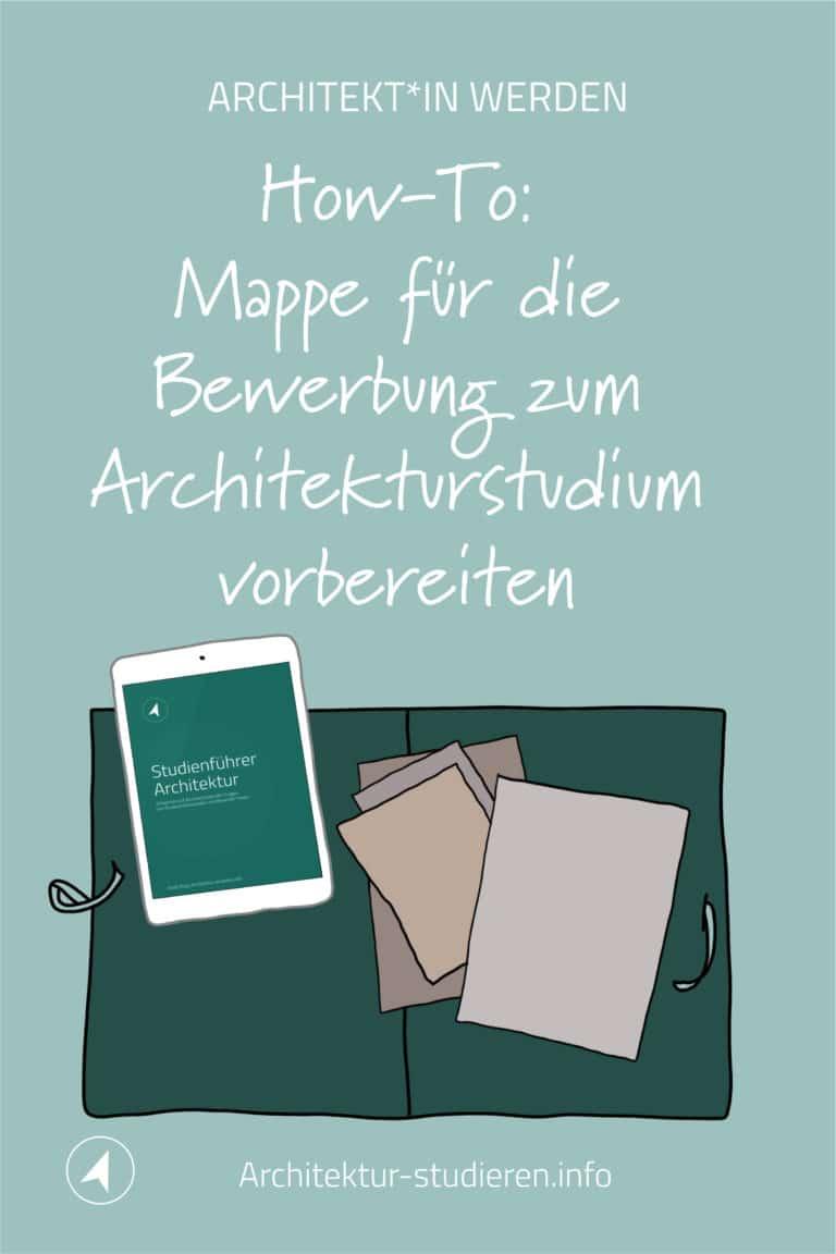 How-To: Mappe für die Bewerbung zum Architekturstudium vorbereiten | © Anett Ring, Architektur-studieren.info